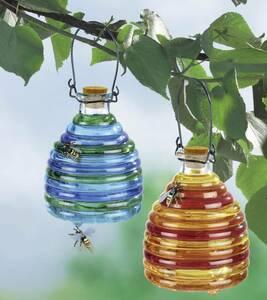 Wespenfalle aus Glas, farbig, 2 Stück Wenko