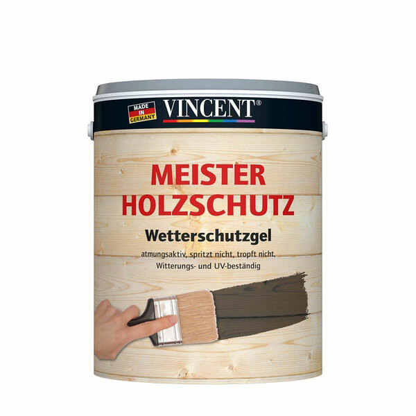 Vincent              Holzschutz nussbaum dunkel 3,5 l