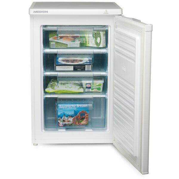 MEDION Gefrierschrank MD 37072, 85 l Volumen, manuelle Temperatureinstellung, 4 Schubladen
