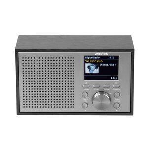 "MEDION LIFE® P66099 DAB+/UKW-Radio im Retro-Look, 2,4"" Farbdisplay, 20 Watt Ausgangsleistung, 2 W RMS, DAB+, PLL UKW, RDS, Display Dimmer, Digitaler Soundprozessor"
