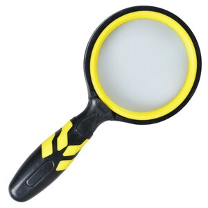 Lupe Ø85mm 2fach Vergrößerung schwarz/gelb Leselupe Vergrößerungsglas