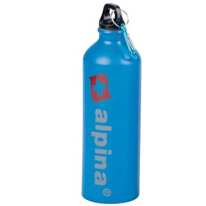 Alpina Trinkflasche 750 ml blau Aluminium