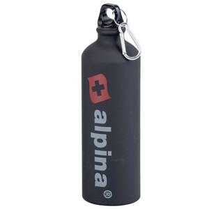Alpina Trinkflasche 750 ml schwarz Aluminium