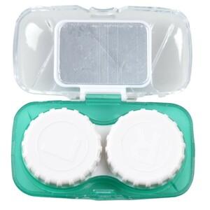 Kontaktlinsen Reisebehälterset grün 15x10x2cm Aufbewahrung