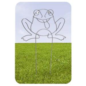 Rankhilfe Frosch 55x90cm Metall Blumengitter