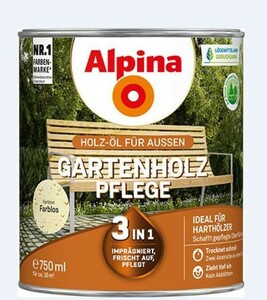 Alpina Gartenholz Pflege Öl ,  750 ml