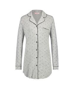 Hunkemöller Nachthemd Menshirt Jersey Grau