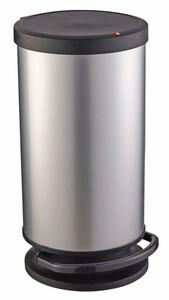Rotho Treteimer Paso, silber metallic, 30 l