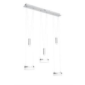 WOFI höhenverstellbare LED Pendellampe 3+3 flg JETTE Chrom