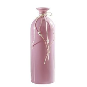 Deko-Flasche SPRING 26 cm Glas Rosa
