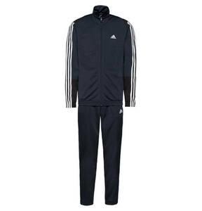 adidas             Trainingsanzug, Logo-Print, Klappkragen, für Herren