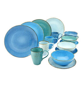 "CreaTable             Kombiservice ""Nature Collection Aqua"", 16-teilig"