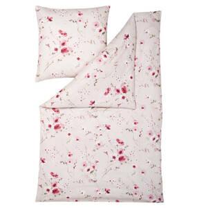 ESTELLA             Bettwäschegarnitur, reine Baumwolle, Reißverschluss, floral
