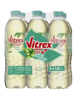 Vitrex Tee Grüntee mit Minze-Geschmack 6x 1,5 ltr PET
