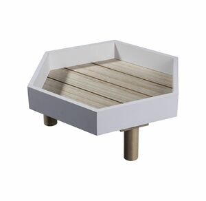 Deko-Tablett aus Holz, ca. 24,5x26cm