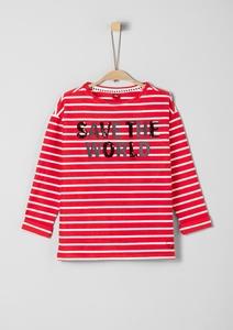 Sweatshirt mit Pailletten-Wording