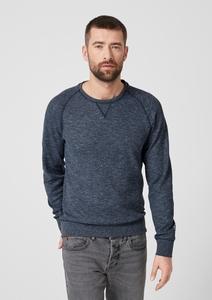 Meliertes Sweatshirt mit Struktur