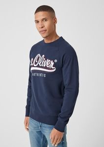Sweatshirt mit 3D-Labelpatch