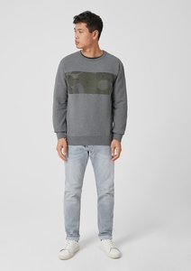 Sweatshirt mit Print-Insert