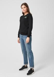 Sweatshirt mit Schmuck-Applikation