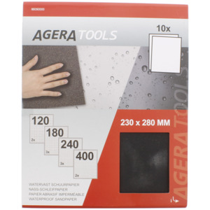 Agera Tools Wasserfestes Schleifpapier