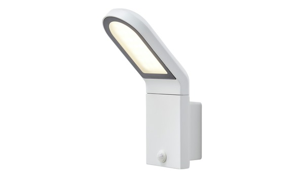 LED-Außenleuchte, Weiß mit Sensor