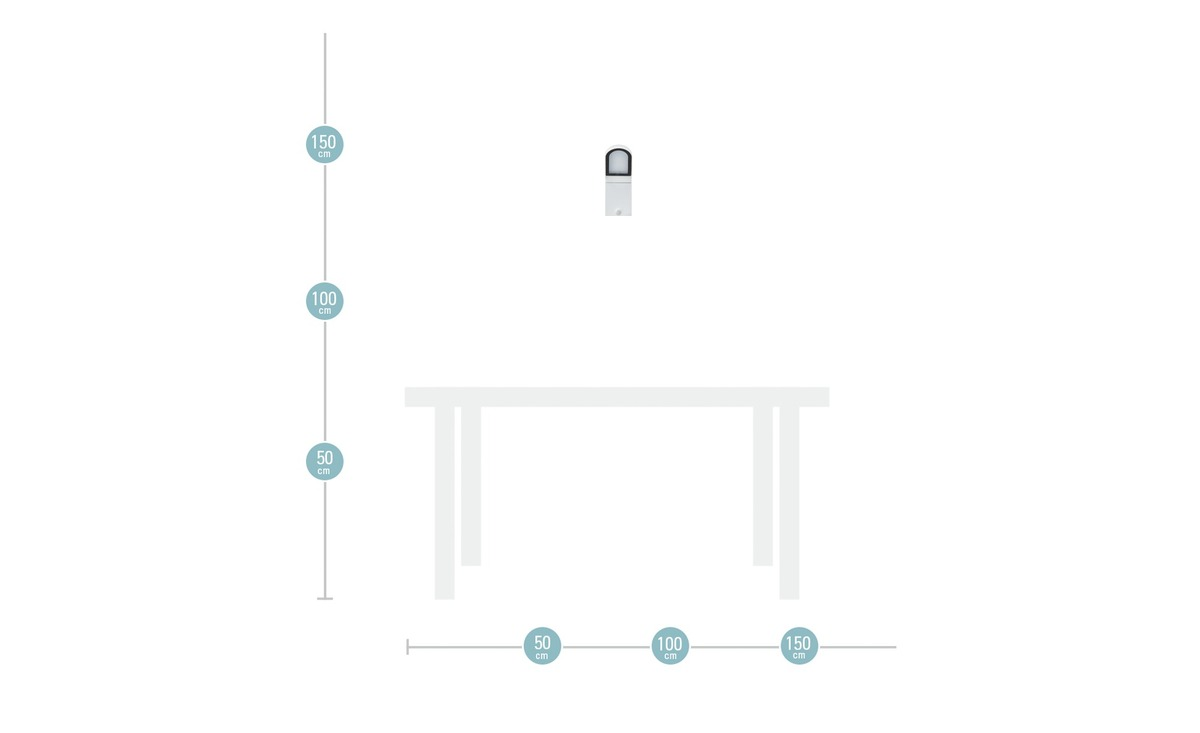 Bild 5 von LED-Außenleuchte, Weiß mit Sensor