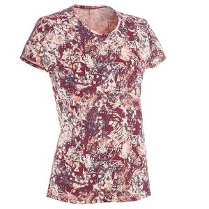 Wandershirt Naturwandern NH500 Damen bordeaux