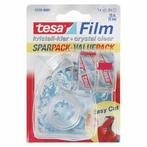 Tesa Film kristall-klar Sparpack 15 mm  x  10 m Kristallklar - 2 Rollen + Handabroller