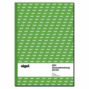Sigel DIN A4 KG429 EDV-Kassenbuch A4 - 2 Stück