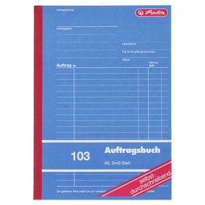 Herlitz 103 Auftragsbuch A5 - 5 x