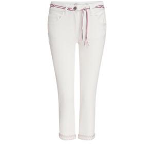 3/4 Damen Slim-Jeans mit Bindegürtel