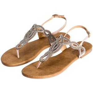 Damen Sandalen mit Ziersteinen