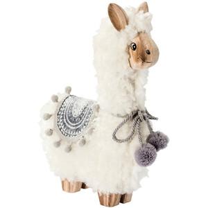 Deko-Figur Lama mit Plüsch