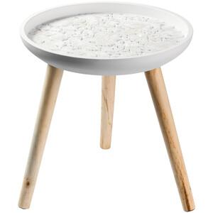 Beistelltisch mit verzierter Tischplatte