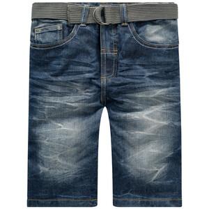 Jungen Jeansshorts mit Canvasgürtel