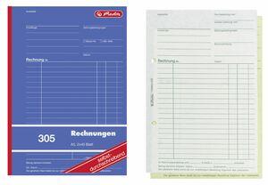 Herlitz 305 Rechnungsbuch A4 - 10 x