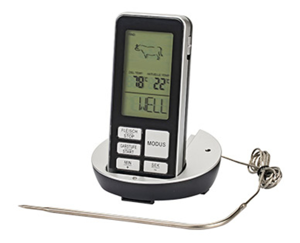 Bild 1 von BBQ PREMIUM Funk-Grillthermometer