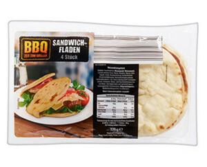 BBQ Sandwich-Fladen