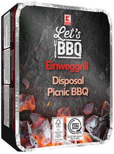 LET'S BBQ  Einweg-Picknickgrill