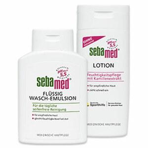 Sebamed Flüssig Wasch-Emulsion oder Bodymilk/Lotion jede 200-ml-Flasche