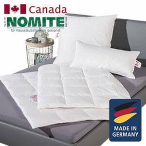 Kopfkissen Hülle: 100 % Baumwolle, Füllung: 1 a weiße canadische neue Federn und Daunen, Klasse 1, 70 % Federn/30 % Daunen, versch. Größen ab