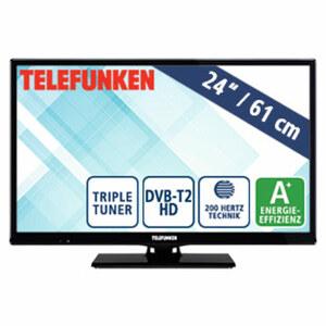 "24""-LED-HD-TV D24H289N4V • Auflösung 1.366 x 768 Pixel • 2 HDMI-Anschlüsse, USB-/CI+-Anschluss • Stand-by: 0,5 Watt, Betrieb: 19 Watt • Maße: H 33,6 x B 55,4 x T 8,2 cm • Energie-Effizie"