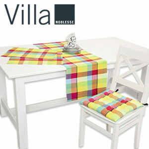 Tischläufer 40 x 150 cm 7,99 ,  Platz- Sets 2er-Pack, 33 x 48 cm 4,99 ,  Stuhlkissen 40 x 40 cm