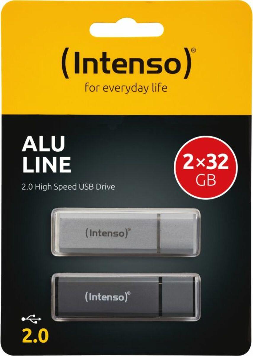 Bild 2 von Intenso AluLine USB Drive 32GB Doppelpack (2x32GB)