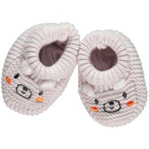 Baby Strickschuhe mit Ohren und Stickerei