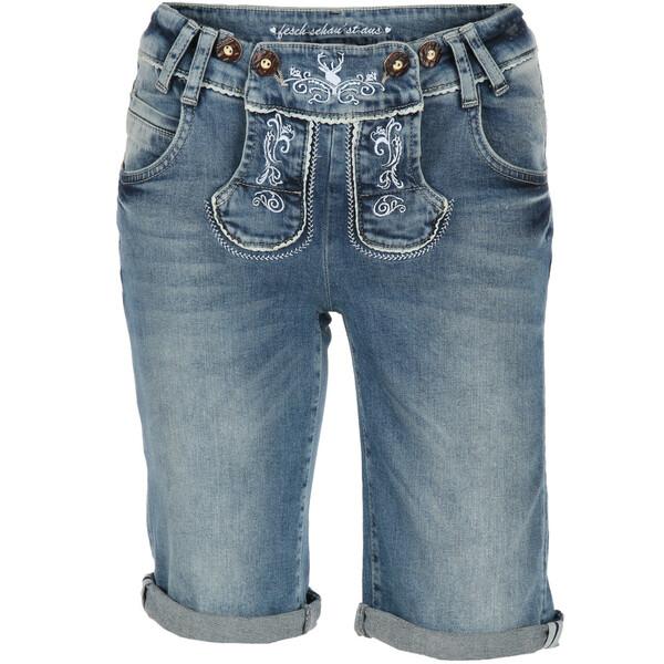 Damen Jeans im Trachtenlook