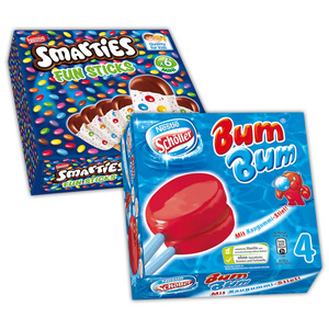 Schöller/Smarties Bum Bum / Smarties Fun Sticks