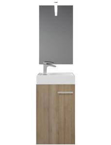 Badmöbel-Set »BARD«, inkl. Spiegel, LED-Beleuchtung, Waschbecken und Unterschrank