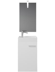 Badmöbel-Set »BARD«, inkl. Spiegel, LED-Beleuchtung, Waschtisch und Waschbecken